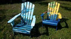 Marlin and Mermaids Adirondack Chair custom artwork. http://amylstump.wix.com/amyarts-designs