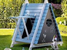 "toom Kreativwerkstatt - Spielzelt ""Tib-Tab"" - Andrea Gießler - Re-Wilding Backyard Playset, Backyard Playhouse, Backyard Playground, Kids Yard, Backyard For Kids, Garden Huts, Diy Jardin, Kids Play Area, Creative Workshop"
