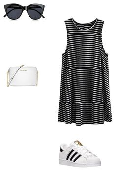 """Sin título #79"" by cande-izzo on Polyvore featuring moda, adidas, Le Specs y Michael Kors"