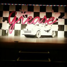 I also love to perform in musical & Grease was the last show I did in high school:) High School Plays, In High School, Grease Theme, Grease Musical, School Projects, Homecoming, Backdrops, Musicals, Neon Signs
