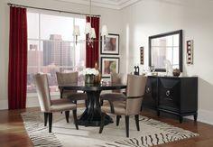 Cosmopolitan Ebony Round Dining Room Set