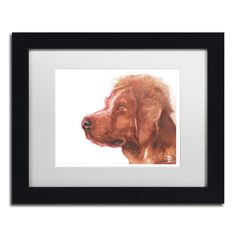 'Brittany Spaniel' by Lowell S.V. Devin Giclée Framed Painting Print