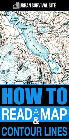 Contour lines measure the distance above sea level. By examining these lines, you can see exactly where all the hills and valleys are, thus avoiding any steep hills or cliffs. Urban Survival, Wilderness Survival, Camping Survival, Outdoor Survival, Survival Prepping, Survival Gear, Survival Skills, Camping 101, Camping Ideas