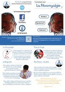 Affiche de communication sur la  fibromyalgie → faire connaitre la fibromyalgie c'est éviter les préjugés.