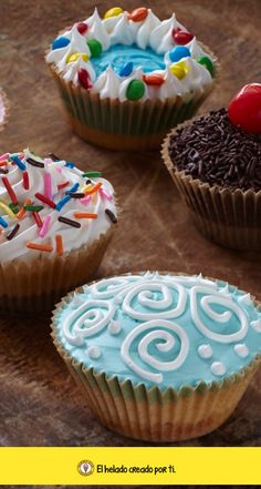 ¿Cupcakes o helados? ¡Ice cupackes!