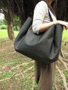 Matte Black Shoulder Bag