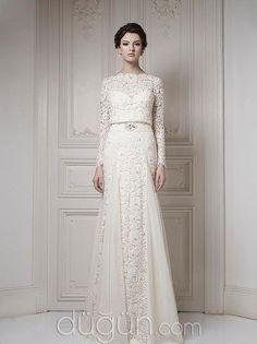62d69f0ed6678 Uzun Kollu Gelinlik Modeli Klasik Moda, Sade Gelinlikler, Resmi Elbiseler,  Elbiseler, Abayalar