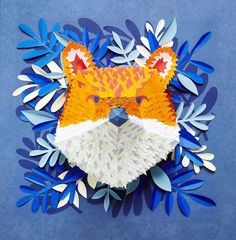 Mlle Hipolyte creates beautifully intricate paper masks of animal faces.