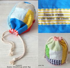 Fabric Yarn, Fabric Scraps, Diy Clutch, Bag Making, Cosmetic Bag, Bunt, Bucket Bag, Purses And Bags, Sewing Projects