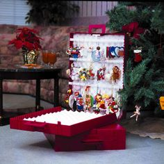 Superbe Ornament Storage Box With Dividers For Large Decorations | Christmas Storage  Solutions | Pinterest | Ornament Storage Box, Christmas Ornament Storage  And ...