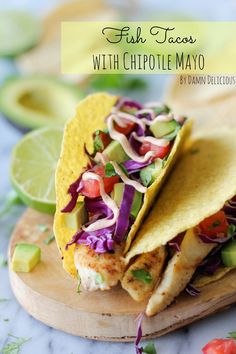 Fish Tacos w/Chipotle Cream Sauce