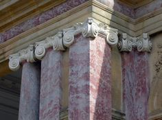 Ionic Order detail, Grand Trianon, Versailles, France