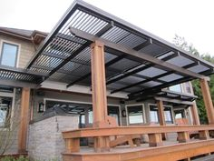 Open Louvered Roof Patio Cover With Gutter System