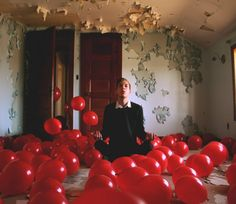 Balões vermelhos (Foto: Kyle Thompson)