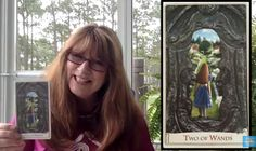 Maggie Moon Tarot - Google+ Midweek we meet the Two of Wands from the Alice Tarot, Baba Studio, http://baba-store.com/! In the card it appears we are looking at Alice through a key hole. She has found the right key, is the right size, and finally able to move into Wonderland's garden. Whew, what a journey but what is her next move? https://youtu.be/uBgao4n0_BU