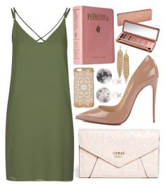 """""""Sem título #118"""" by bewai ❤ liked on Polyvore featuring GUESS, Topshop, Christian Louboutin, Capwell + Co and Urban Decay"""