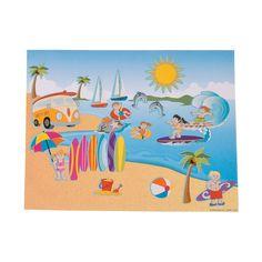 Large Surfing Sticker Scenes - OrientalTrading.com