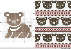Most current Photos knitting charts bear Style 42 Super Ideas Knitting Charts Bear Filet Crochet Filet Crochet, Crochet Chart, Crochet Patterns, Fair Isle Knitting Patterns, Knitting Charts, Knitting Stitches, Beginner Knitting, Knitting Kits, Knitting Bear