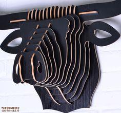 Europa creatieve houten buffalo hoofd muur opknoping interieur, houtsnijwerk longhorn hoofd dier thema stijl moderne wanddecoratie in  /dhl fedex/ups/ems het verschepen, snel het verschepen(Volgens de scheepvaart adres van de koper, de verkoper zal van hout ambachten op AliExpress.com | Alibaba Groep