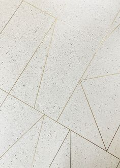 terrazzo floors with brass inlay // custom by sarah sherman samuel // mandy moore home