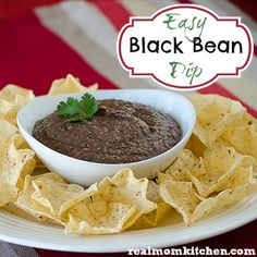 Easy Black Bean Dip | realmomkitchen.com