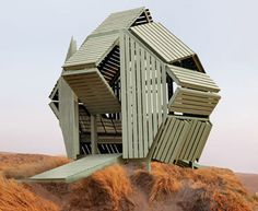 home architecture Michael Jantzens transformable M-Velope house (a 230 sq foot flexible space) Art Et Architecture, Sustainable Architecture, Amazing Architecture, Interactive Architecture, Temporary Architecture, Unusual Buildings, Interesting Buildings, Small Buildings, Interaction Design