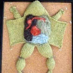 A biology teacher joins a knitting club!