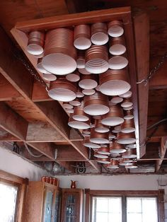 Homemade Recycled Aluminum Can Light Fixture | Flickr - Photo Sharing!