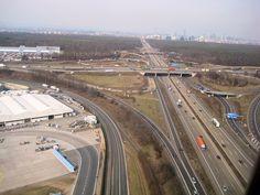 Frankfurt Airport and A5 Autobahn