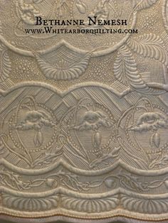 Poppy Promenade - WONDERFUL wholecloth by Bethanne Nemesh; www.WhiteArborQuilting.com - Allentown, PA