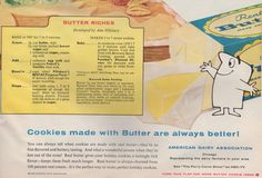 American Dairy Association recipe for Butter Cookies. From the December 1958 issue of Better Homes & Gardens