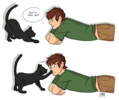 Here's a pic of hiccup and toothless as a cat!! @Tea109