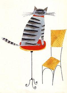 "Illustration by Miroslav Sasek, from ""This is Paris""."