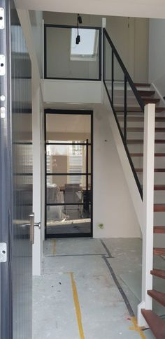 kitchen ideas – New Ideas Loft Staircase, Staircase Storage, Staircase Handrail, Staircase Design, Black Interior Doors, Interior Stairs, Open Trap, Black Stairs, Balustrades