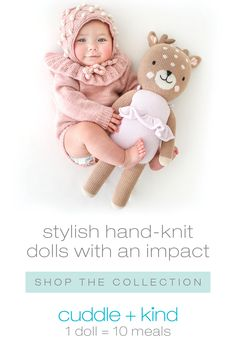 Every cuddle kind doll is handcrafted with love and empowers women artisans with fair trade income. For every doll sold, we give 10 meals to children in need. Baby Pictures, Baby Photos, Everything Baby, Reborn Babies, Baby Accessories, Nursery Ideas, Room Ideas, Decor Ideas, Baby Fever