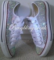 Original Price** All Over Crystal Converse ALL Colours -Custom Hand,made Crystal Converse.Free UK Delivery