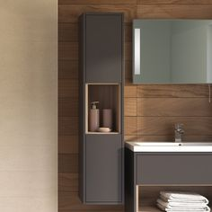 built in tall bathroom shelves - Google Search