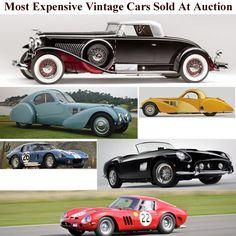 Los 15 autos antiguos más caros vendidos en una subasta
