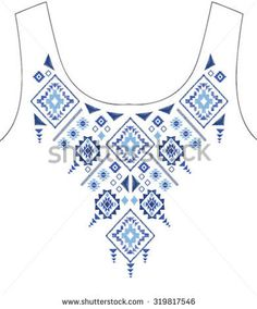ethnic graphic for t-shirt Border Embroidery Designs, Geometric Embroidery, Mexican Embroidery, Embroidery Motifs, Diy Embroidery, Machine Embroidery, Embroidery On Clothes, Embroidery Fashion, Frock Patterns