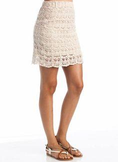 eyelet crochet skirt