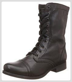 Steve Madden Troopa Damen Schwarz Leder Mode-Stiefeletten Neu/Display EU 39 - Stiefel für frauen (*Partner-Link)