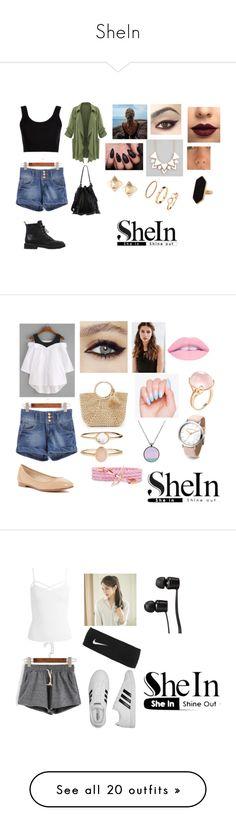 """SheIn"" by kassidi-nicole-w ❤ liked on Polyvore featuring Calvin Klein Collection, Giuseppe Zanotti, Valentino, Full Tilt, Jaeger, LASplash, Loeffler Randall, Via Spiga, Hat Attack and REGALROSE"