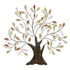 Shimmering Oak Tree Wall Art