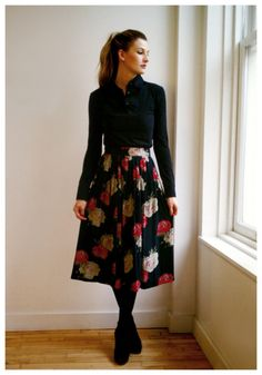 Sarah Reynolds, voice of @KmartFashion on Twitter, Art & Fashion Darling @sarah reynolds     Classic EDNY shirt in Black  Christian Dior Skirt  DKNY tights  Shoes by Melissa Closet Collection, Fashion Art, Womens Fashion, Christian Dior, Envy, Style Me, Tights, Twitter, Classic