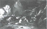 FIGURES IN A LANDSCAPE by Salvator Rosa