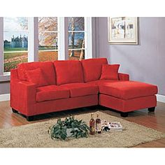 @Overstock - Red Anthony Sectional Sofa - Sit in style with this Anthony reversible sectional sofaFurniture comes with reversible chase cushionSofa design allows you to use the chase on either the left or right side  http://www.overstock.com/Home-Garden/Red-Anthony-Sectional-Sofa/4395985/product.html?CID=214117 $689.99