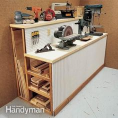 Wood Storage Rack Plans - How to Build DIY Woodworking Blueprints . - Wood Storage Shelf Plans – How DIY Woodworking Build Blueprints …, build breaks - Workshop Storage, Workshop Organization, Garage Workshop, Garage Organization, Shop Organisation, Wood Workshop, Workshop Bench, Organized Garage, Woodworking Organization