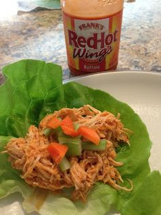 Best Crock Pot Buffalo Chicken Lettuce Wraps Recipe on Pinterest