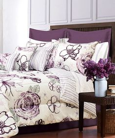 Another great find on #zulily! Purple Angelica Bed Set #zulilyfinds