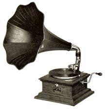 Antique record player. Classic